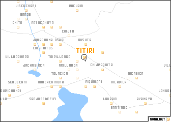 map of Titiri