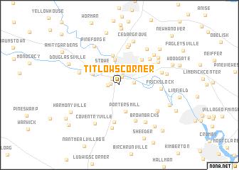 map of Titlows Corner