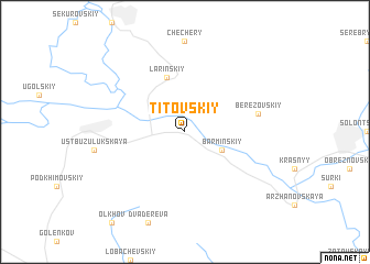map of Titovskiy