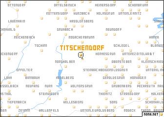map of Titschendorf