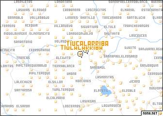 map of Tiúcal Arriba