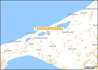map of Tivaouane Peul