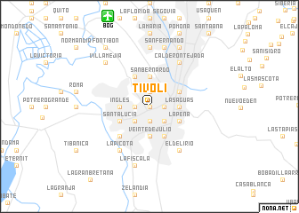map of Tívoli