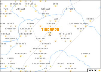 map of Tiwabéra
