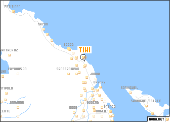 map of Tiwi