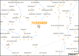 map of Tizergane