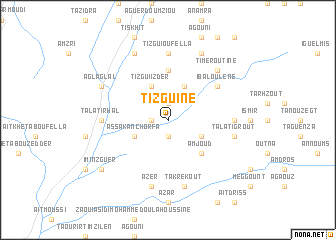 map of Tizguine