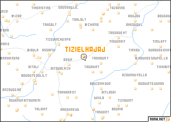 map of Tizi el Hajaj