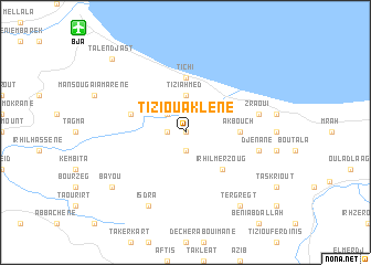 map of Tizi Ouaklene