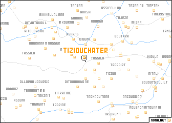 map of Tizi Ou Chater