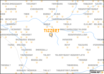 map of Tizzert