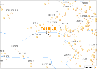 map of Tješilo