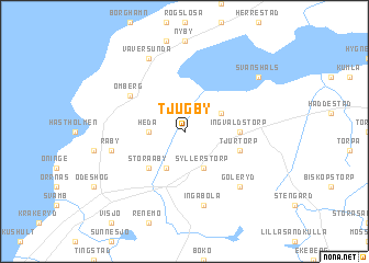 map of Tjugby