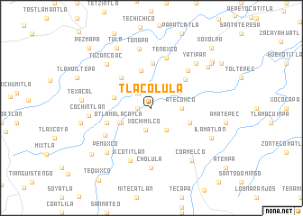 map of Tlacolula