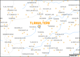 map of Tlahuiltepa