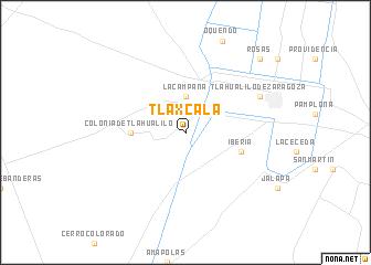 Tlaxcala Mexico Map Nona Net