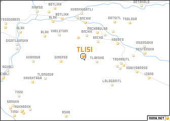 map of Tlisi