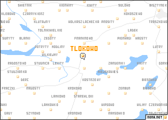 map of Tłokowo