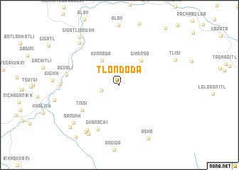 map of Tlondoda