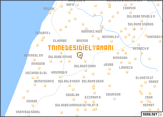 map of Tnine de Sidi el Yamani