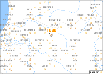 map of Tobo
