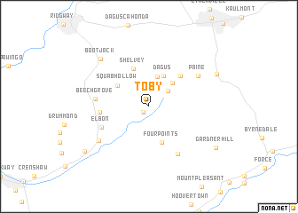map of Toby