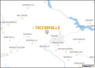map of Toccoa Falls