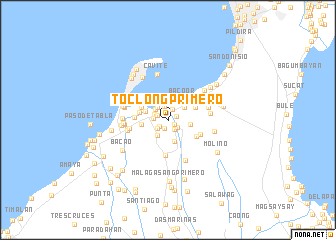 map of Toclong Primero