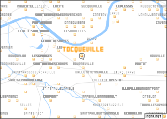 map of Tocqueville
