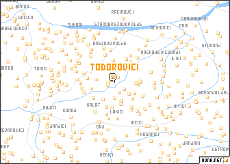 map of Todorovići