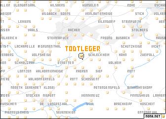 map of Todtleger