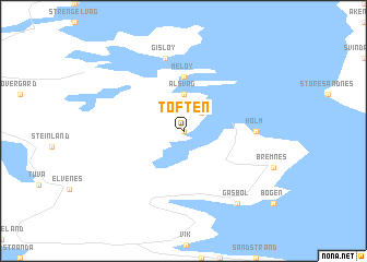 map of Toften