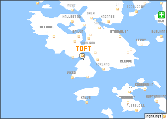 map of Toft