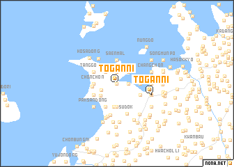 map of Tŏgan-ni