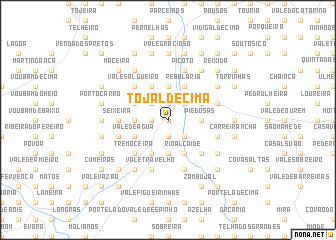 map of Tojal de Cima