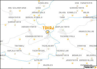map of Tokaj