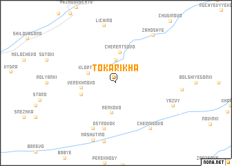 map of Tokarikha