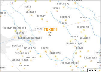 map of Tokari