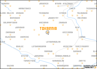 map of Tokarnia