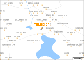 map of Tolacica