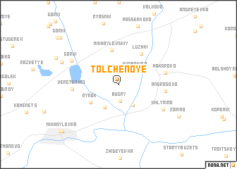 map of Tolchënoye
