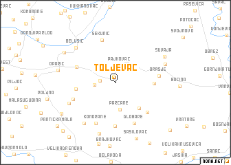 map of Toljevac