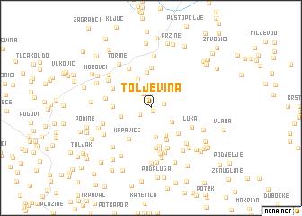 map of Toljevina