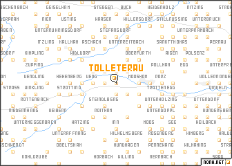 map of Tolleterau