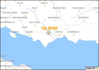 map of Tolofón