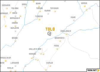 map of Tolo
