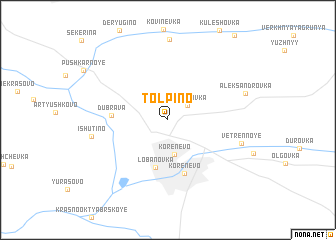 map of Tolpino