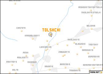 map of Tolshchi