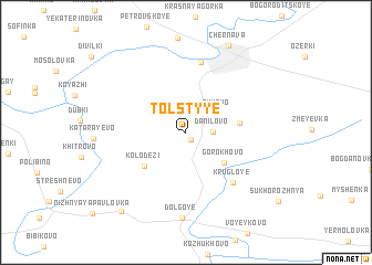 map of Tolstyye