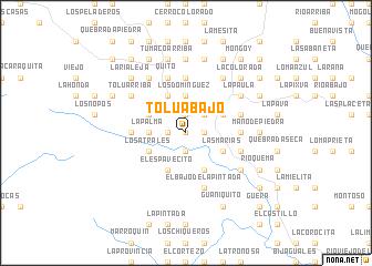 map of Tolú Abajo